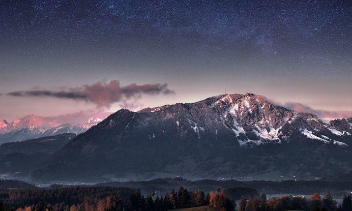 Mountain Stars Landscape – WallpapersBae