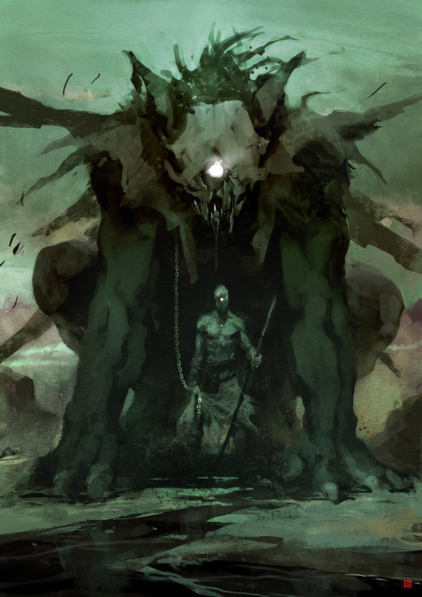 Cyclops by *barontieri on deviantART #fantasy #cyclops #digital #illustration #art #painting