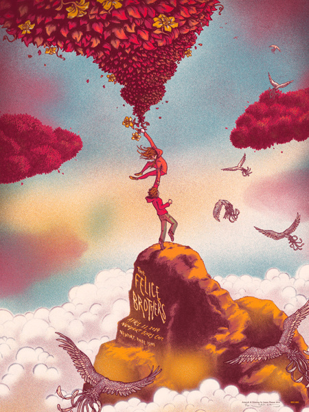 Amazing illustrations by James Flames. Fantasy,... | GS Work We Love #gig #poster