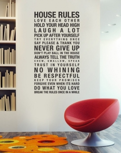 Jay Mug — House Rules Vinyl Wall Sticker #interior #design