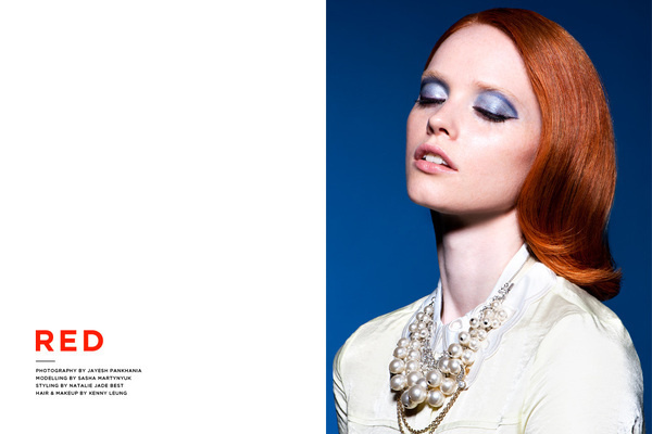 Red, A Fashion Editorial by Jayesh Pankhania #fashion #photography #redhead