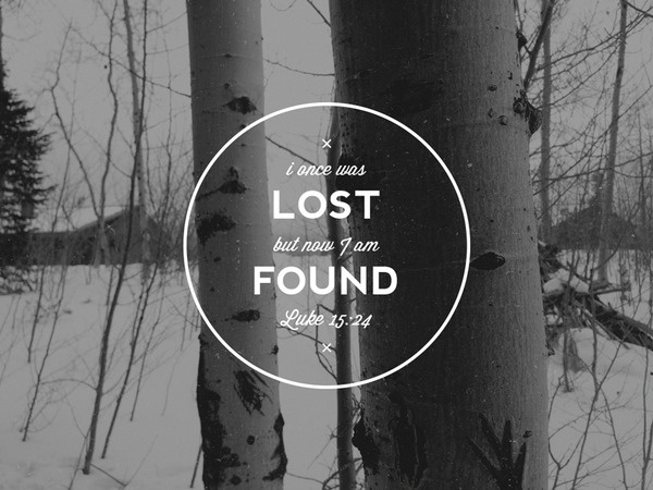 Lost & Found #mark #found #scripture #prodigal #bible #logo #lost #son #verse
