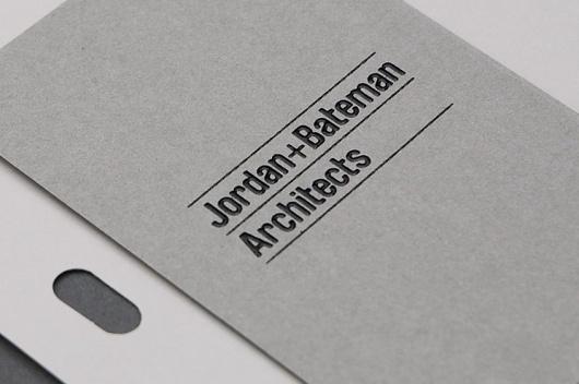 Spin — Jordan+Bateman Architects stationery #drilled #spin #stationery