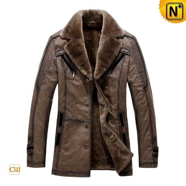 Mens Shearling Coat Jacket CW819173 - cwmalls.com #fashion