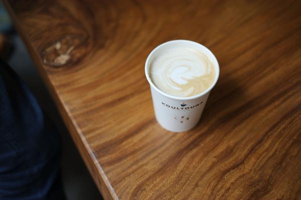 Koultoura Coffee #branding #brand #coffee #logo #cup #typography