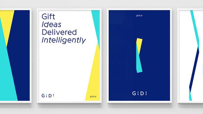 GIDI - World's first Gift Bot branding logo minimal interactive corporate design beauty beautiful new modern best nice by DIA mindsparkle Ma