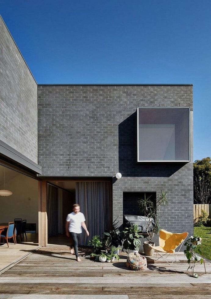 Black Brick House
