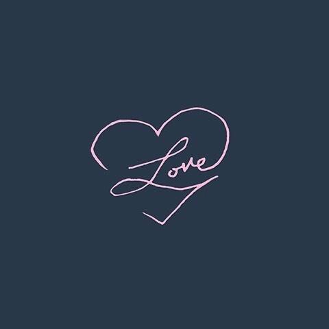 Love letters | hand lettering | via Instagram @lettersbycarose