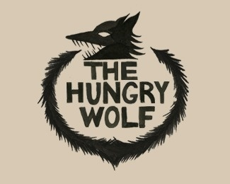 The Hungry Wolf by DeanWilliamLiebau #logo #wolf
