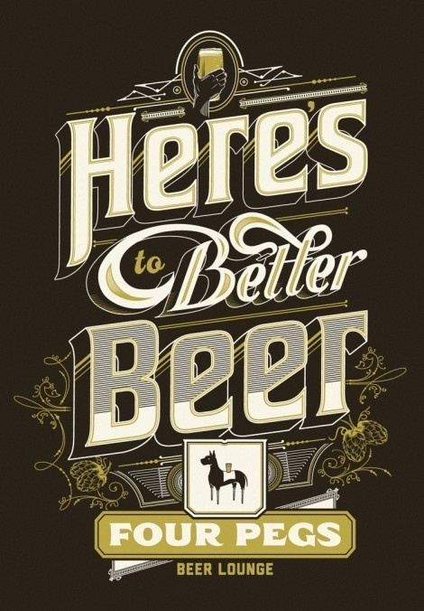 Here's to Better Beer Shirt #beer #poster