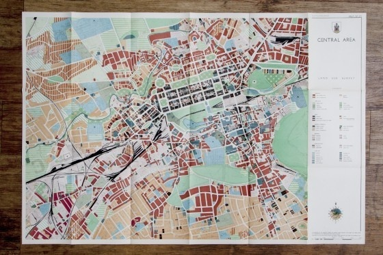 Edinburgh fold out map #map