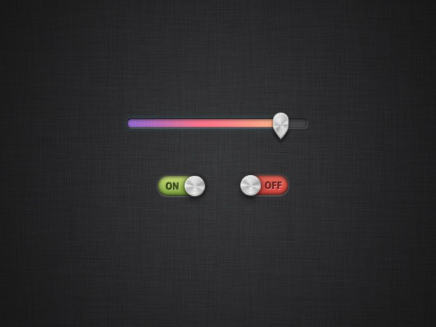 Colorful progress bar with slide switch Free Psd. See more inspiration related to Button, Colorful, Metal, Bar, Psd, Progress bar, Material, Switch, Progress, Slider, Slide, Push, Horizontal, Push button, Sliders, Switches and Psd material on Freepik.