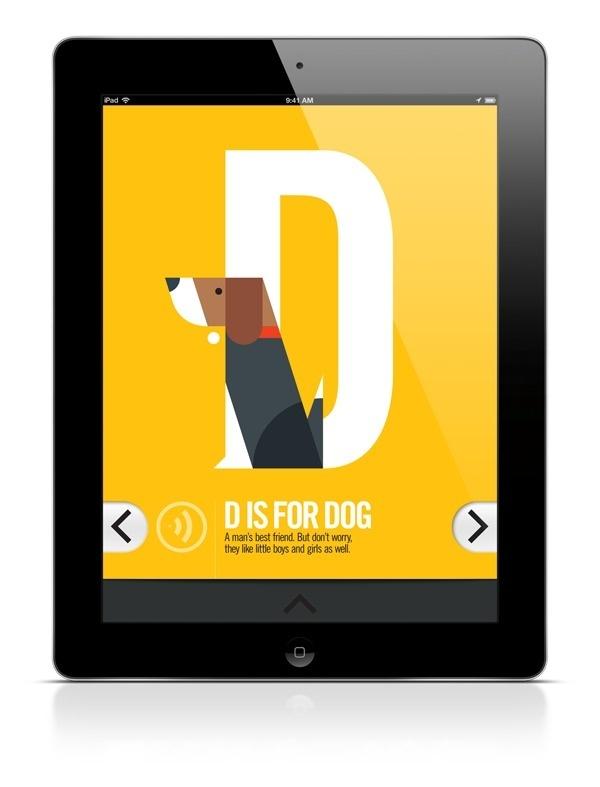 ABC iPad App on Behance #type #illustration #app #dog