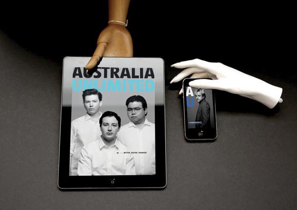 AU Digital Pioneers Issue on Behance #ipad #design #digital #iphone #app #unlimited #layout #australia #magazine
