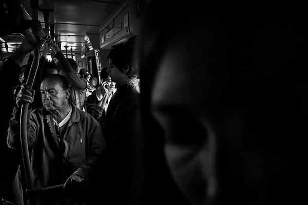 Reflections In Transit on Photography Served #train #transit #photography #film #dark #blackandwhite #bw