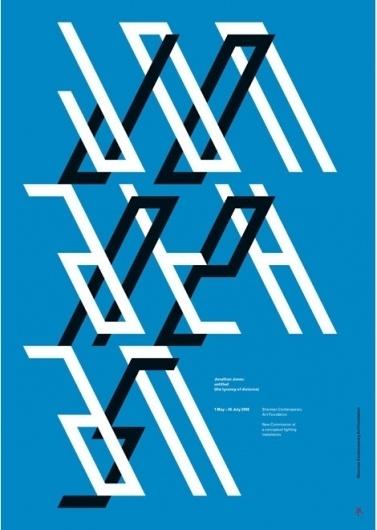 grain edit · Mark Gowing #jones #typography #jonathan #type #dimensional