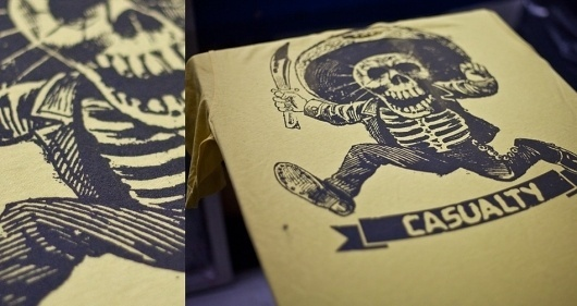Casualty Clothing Co. #silkscreen #t #mexico #shirt #skull