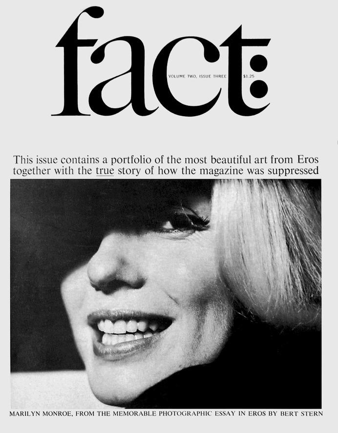 Ralph Ginzburg & Herb Lubalin, la revue Fact #fact #lubalin #marilyn monroe #layout #cover #magazine