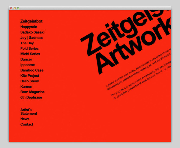 Zeitgeistbot #website #layout #design #web