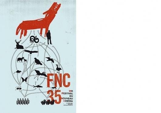 FESTIVAL NOUVEAU CINEMA : Sébastien Bisson #illustration #poster