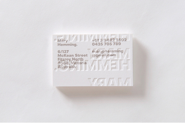 Letterpress business card #card #business