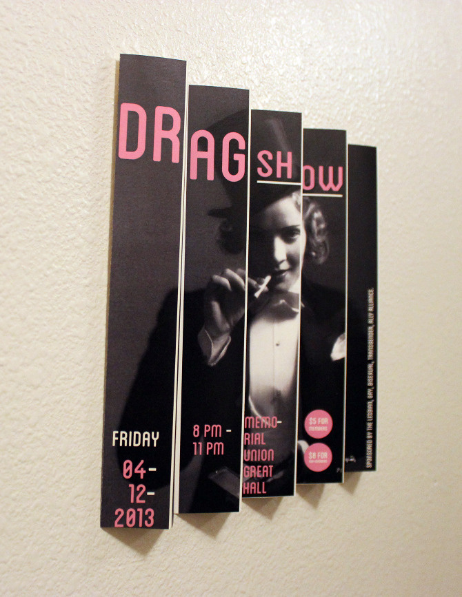 Drag Show Poster - Charles Poulson Graphic Design #show #3d #poster #drag