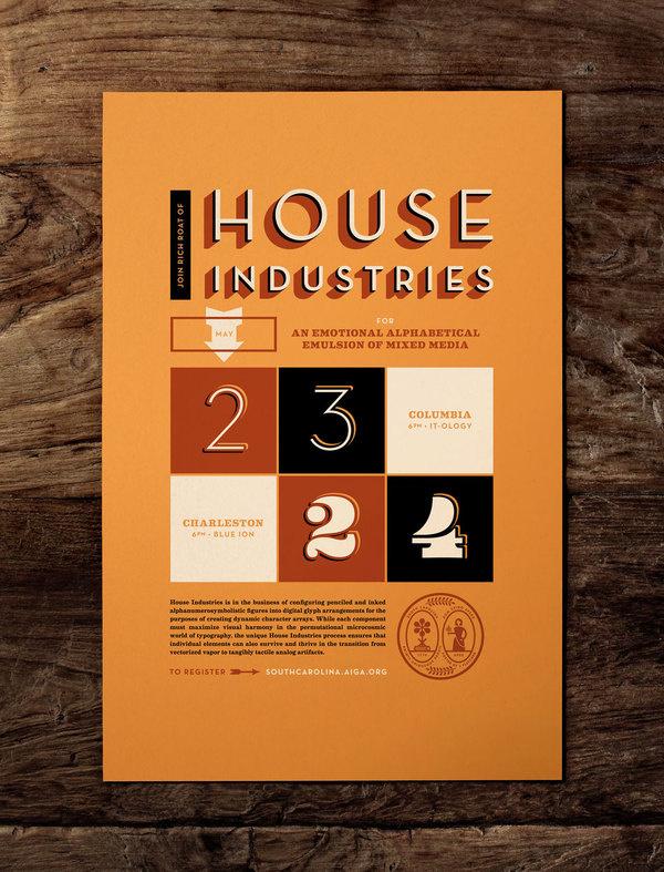 HOUSE INDUSTRIES — J FLETCHER #print #vintage #poster