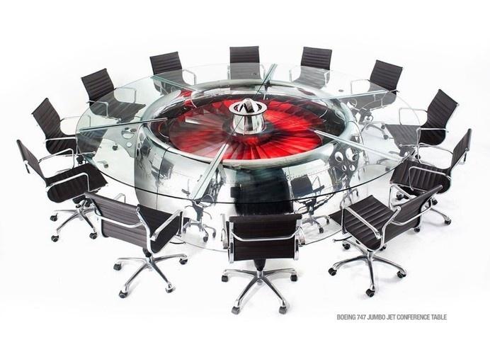 MotoArt Futuristic furniture from retired airplanes - www.homeworlddesign.com #motoart #furnituredesign