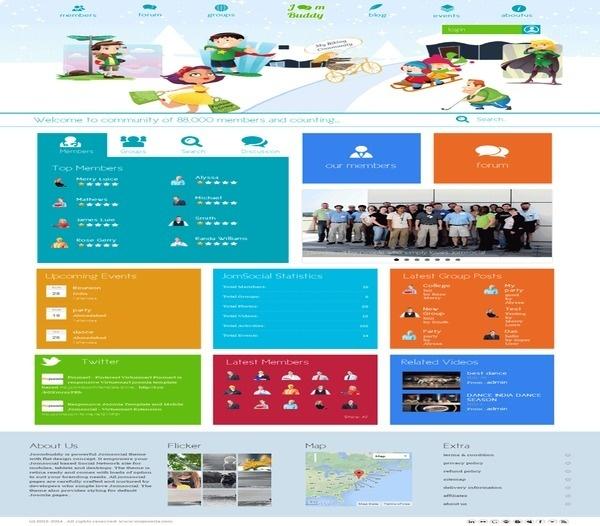 Joombuddy - responsive joomla jomsocial theme #template #responsive #jomsocial #joomla