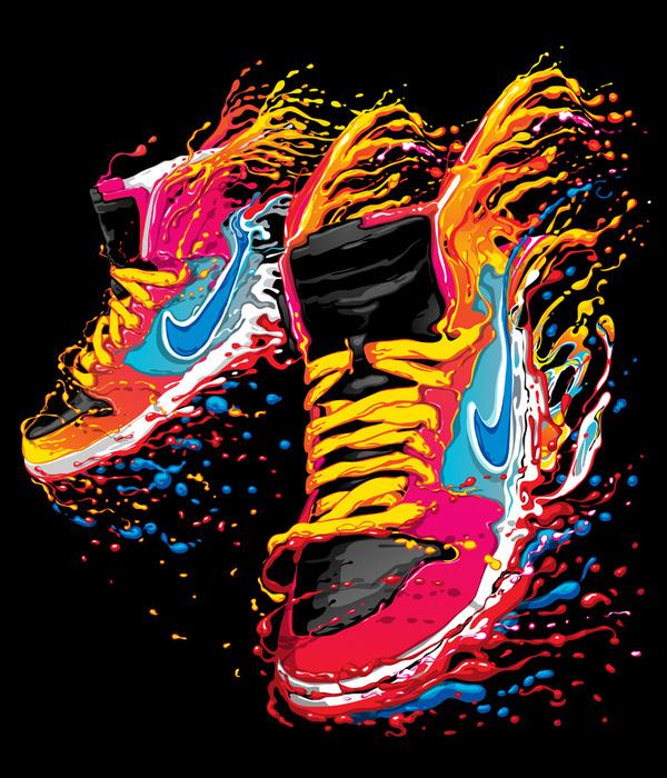 Nike t-shirt design 2012 on the Behance Network #nike #sneakers