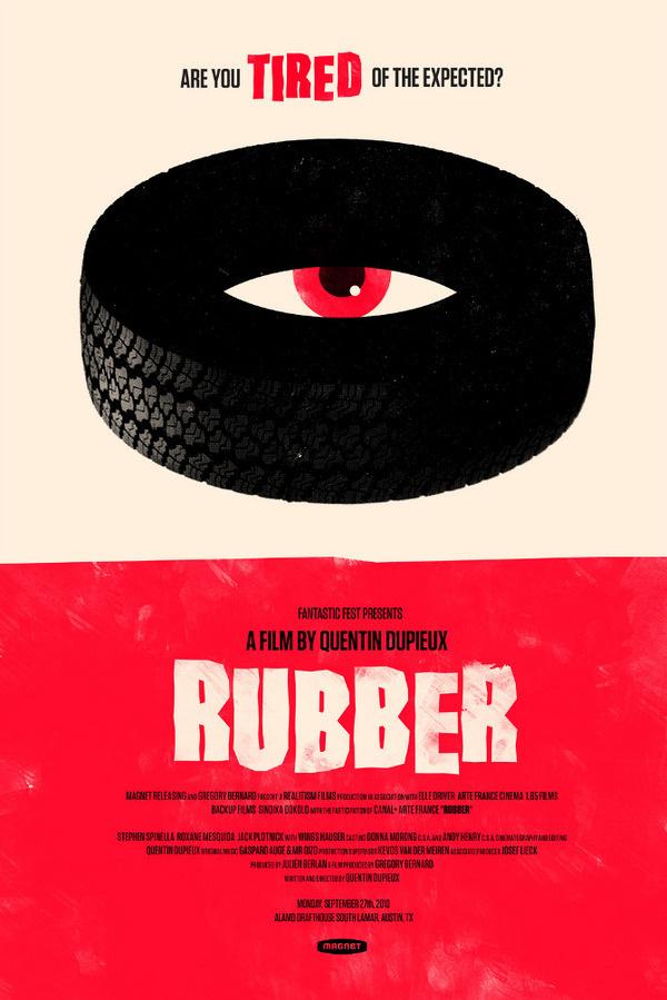Rubber OLLY MOSS DOT COM #movie #retro #poster