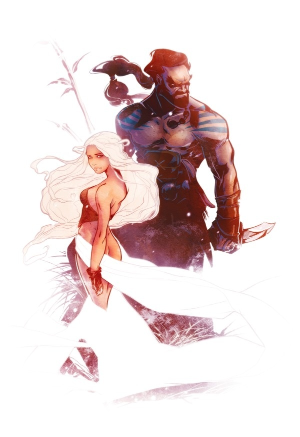 Daenerys and Drogo #of #song #illustration #if #fire #and #ice #game #oklahoma #thrones