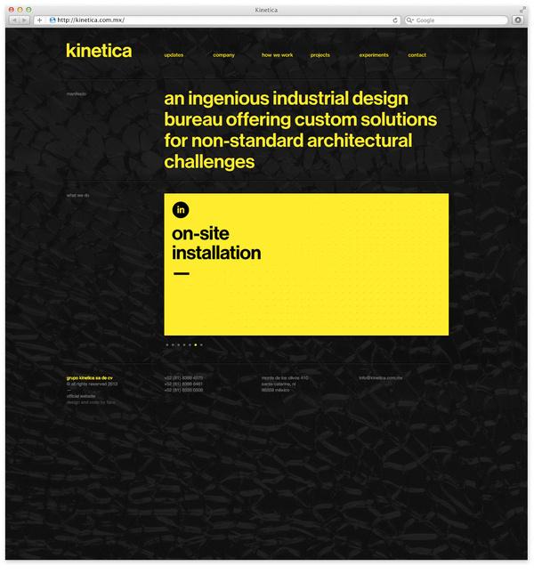 Web1 #yellow #black #minimal #webdesign