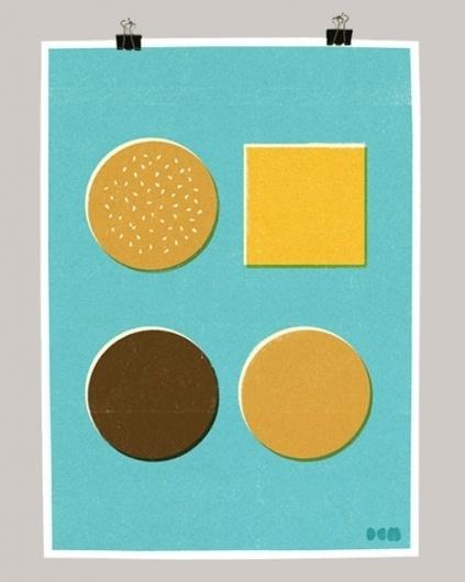 design work life » cataloging inspiration daily #burger #screenprint #illustation