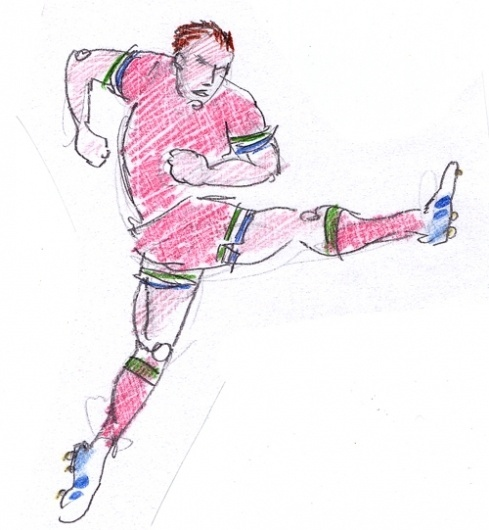 Specialmagazin #illustration #drawing #man #football #soccer #kick #character