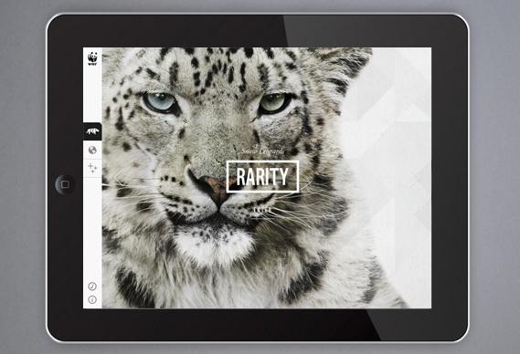 Creative Review WWF's new iPad app #wwf #type #app