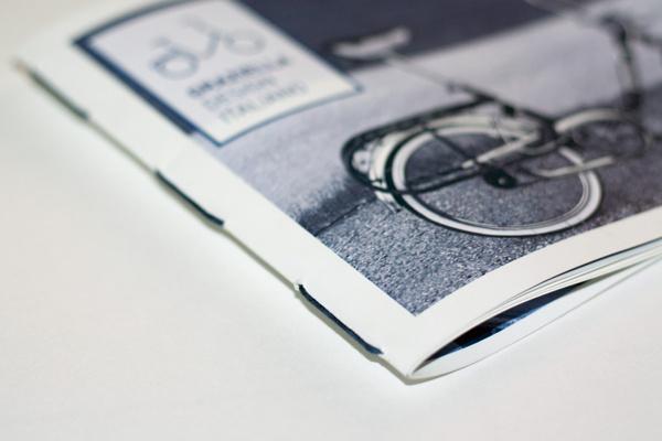 Graziella. Design italiano on Behance #brochure #bike #bicycle #binding #stitch