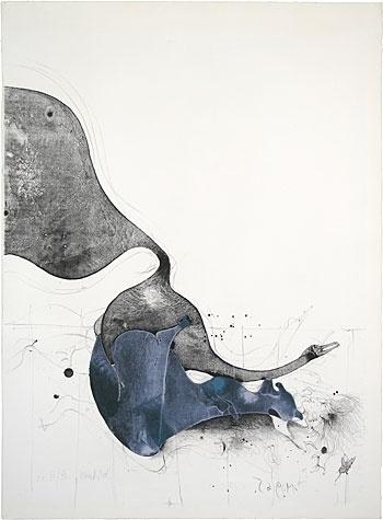 Leda Und Der Schwan 1965 Paul Wunderlich #wunderlich #litograph #paul