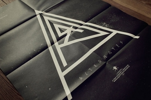Graphic-ExchanGE - a selection of graphic projects #black #folded #poster #typography