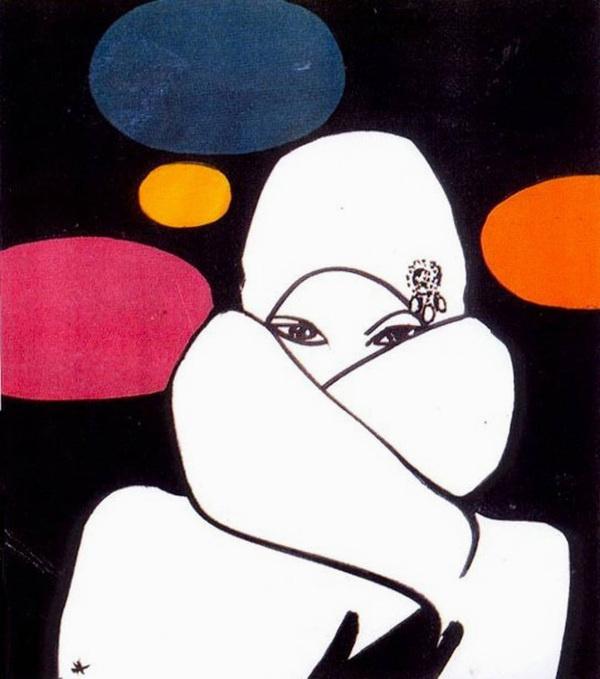international textiles 1971 #rene #gruau #illustration #fashion #drawing