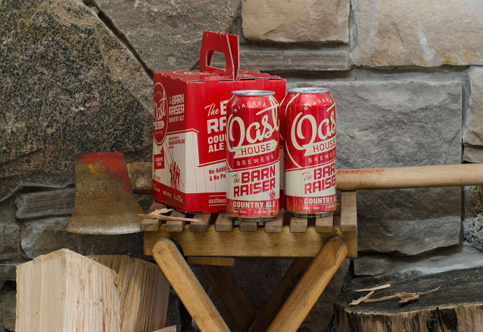beer, box, package, barn, red, box