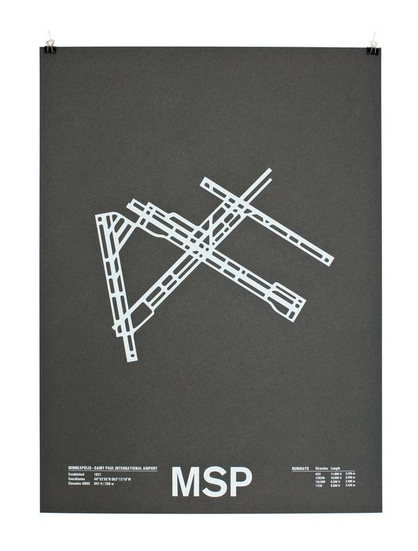 msp #print #runway #paper #poster #airport
