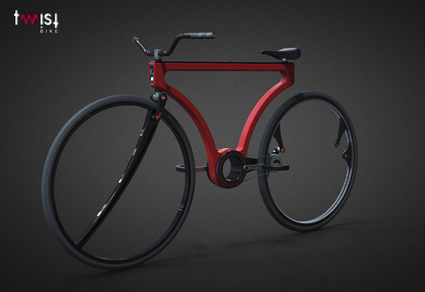 Twist Bike #tech #amazing #modern #innovation #design #futuristic #gadget #ideas #craft #illustration #industrial #concept #art #cool