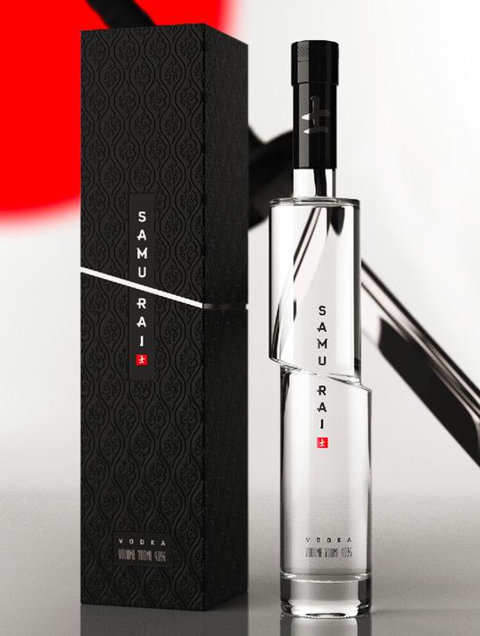samurai #vodka #package #bottle