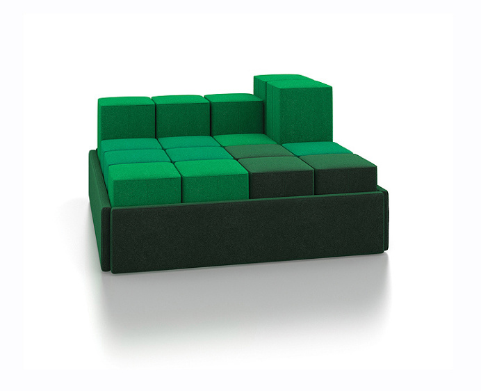 With Le Cube you can play around and re-design your cheerful sofa any time you want. #design #product #modern #furniture
