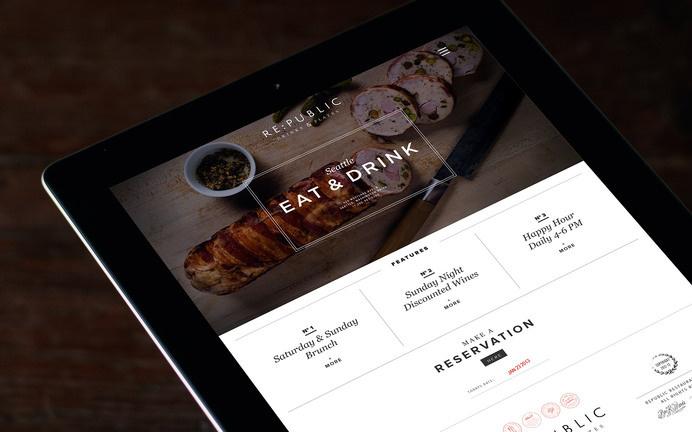 Re:public Restaurant & Bar « Superbig Creative #website #tablet #ipad #responsive #grid #clean #branding #identity #menu #restaurant #food