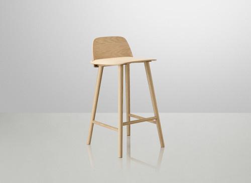 Nerd Bar Stools by MUUTO #wood #furniture #minimal #stool