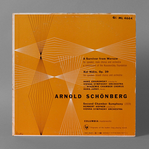 Classical Record Cover by Alvin Lustig #geometry #modern #music #lustig #cover #record #vinyl #lp #mid #century #modernism