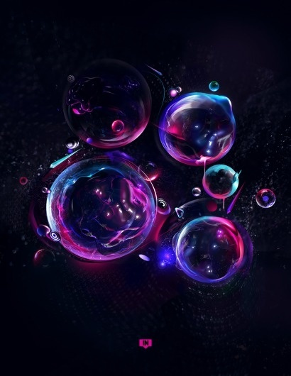 Teardrop by ~HumanLG #bubbles #design #graphic #genovese #digital #colors #luca #art