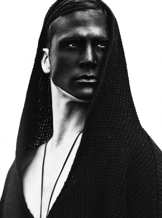 Saville Dorfman by Leonardo Corredor #man #paint #face #black